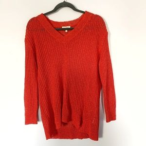 Eileen Fisher Italian Yarn Knit V Neck Sweater